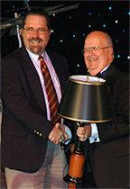 Cal receiving Charles Tebbits Award